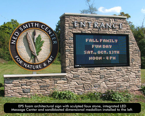 The Perfect Partnership Foam Monument Signs Led Message