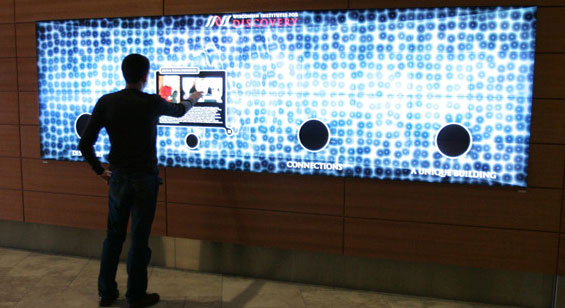 interactive media walls communication at an arm 39 s distance