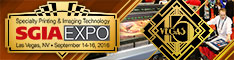 2016 SGIA Expo in Las Vegas, Nevada September 14-16, 2016