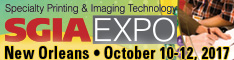 SGIA Expo 2017 in New Orleans, Louisiana - October 10-12