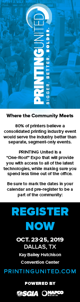 Printing United - October 23-25, 2019 - Dallas, Texas - Register Now